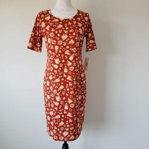 LulaRoe Disney Red Julia Dress Women's Medium